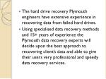 the hard drive recovery plymouth engineers have