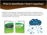 what is quickbooks cloud computing