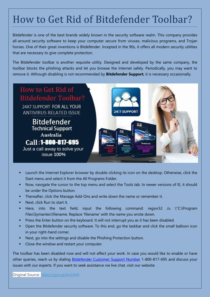how to get rid of bitdefender toolbar n.
