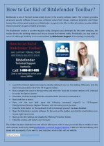 how to get rid of bitdefender toolbar