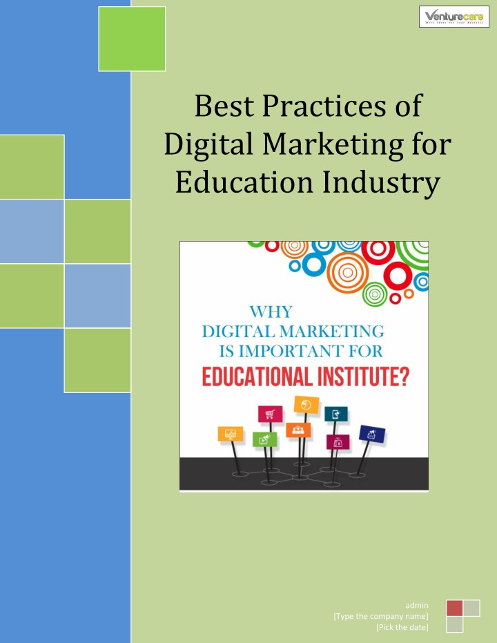 best practices of digital marketing for education n.
