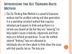 introducing the six thinking hats method