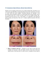 5 common questions about juvederm