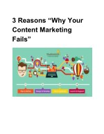 3 reasons why your content marketing fails