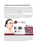 lumaglow instant lifting creme moisturizer
