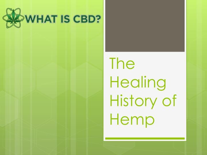 the healing history of hemp n.