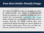 even more mobile friendly design