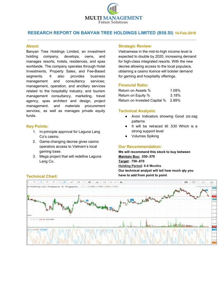 research report on banyan tree holdings limited n.
