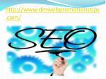 http www dmwebpromotionstips com 2