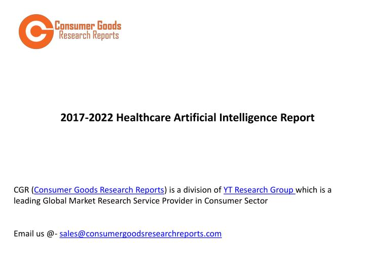 2017 2022 healthcare artificial intelligence n.
