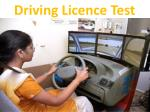 d riving l icence test