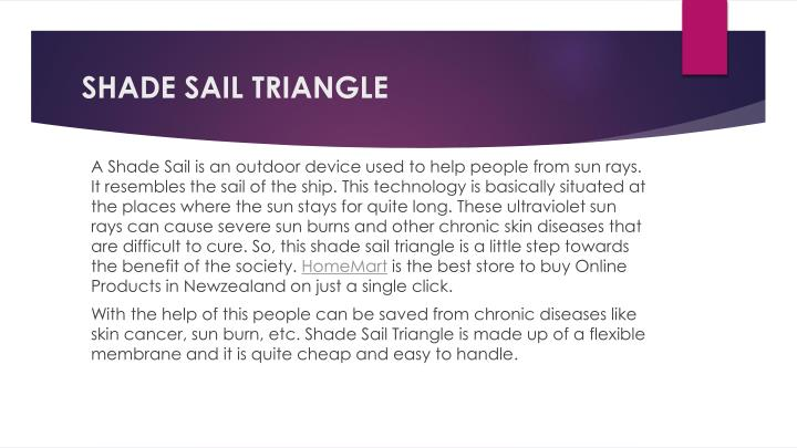 shade sail triangle n.