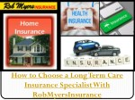 how to choose a long term care insurance