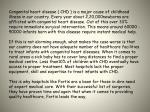 congenital heart disease chd is a major cause