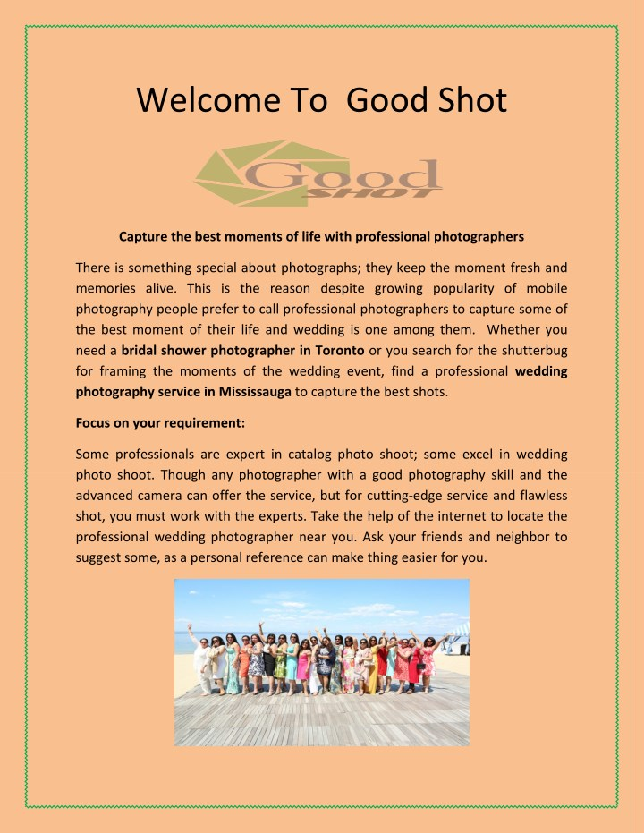 welcome to good shot n.