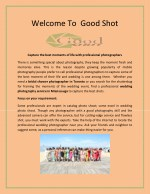 welcome to good shot