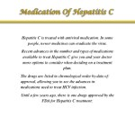 hepatitis c is treated with antiviral medication