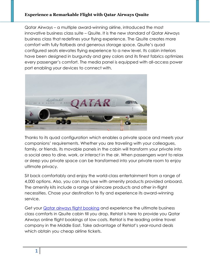 experience a remarkable flight with qatar airways n.