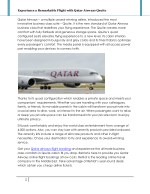 experience a remarkable flight with qatar airways