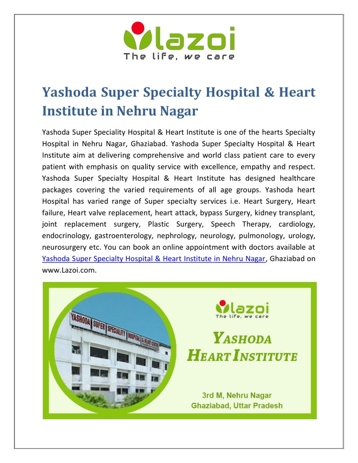 yashoda super specialty hospital heart institute n.