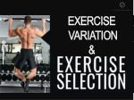 exercise variation