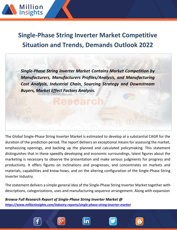 single phase string inverter market competitive n.
