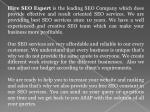 hire seo expert is the leading seo company which