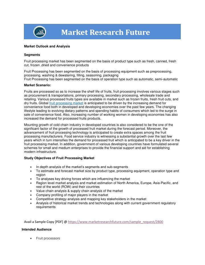 market outlook and analysis n.