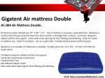 gigatent air mattress double
