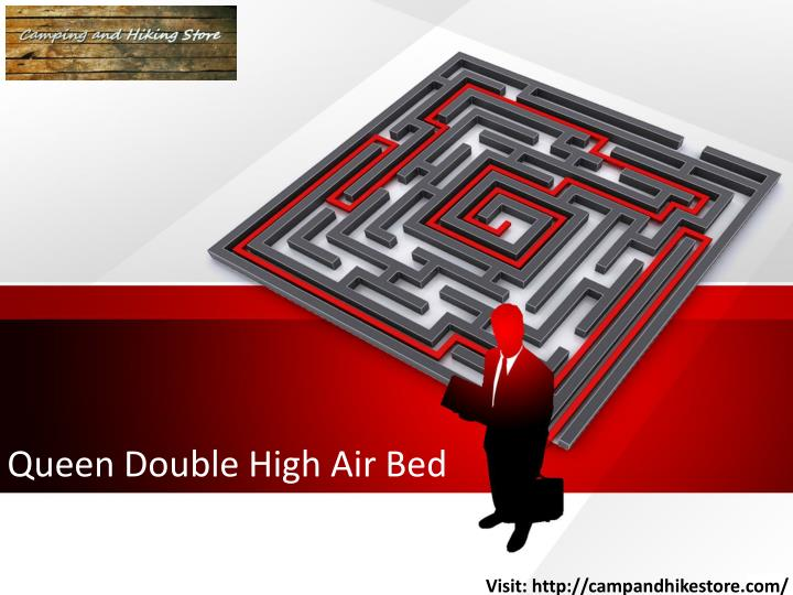 queen double high air bed n.