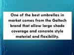 one of the best umbrellas in market comes from