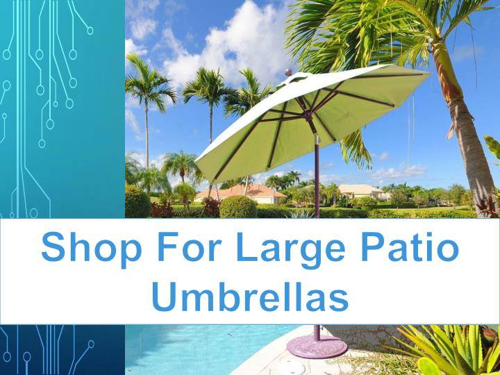 shop for large patio umbrellas n.
