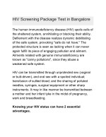 hiv screening package test in bangalore