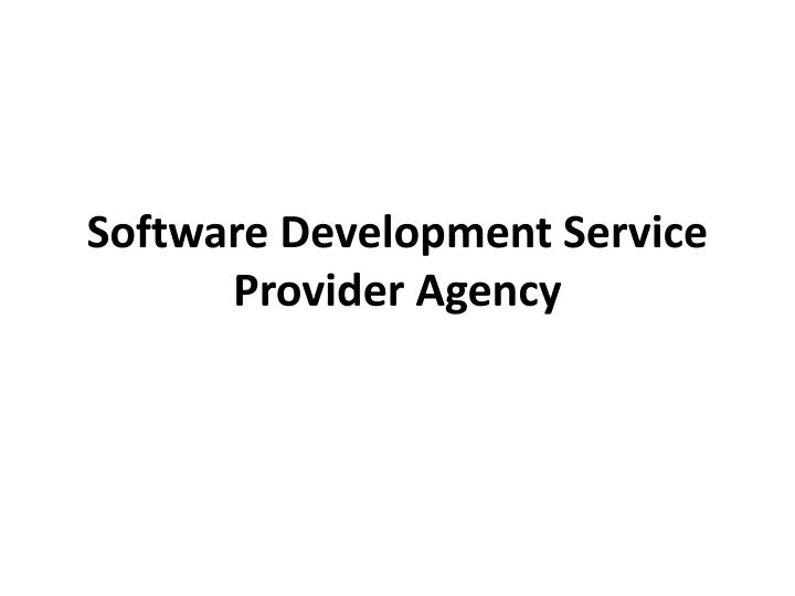 software development service provider agency n.