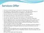 services offer