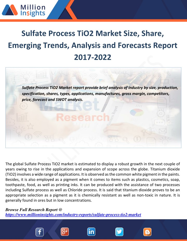 sulfate process tio2 market size share emerging n.