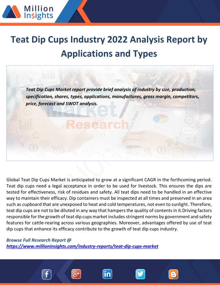 teat dip cups industry 2022 analysis report n.