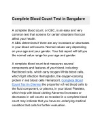 complete blood count test in bangalore
