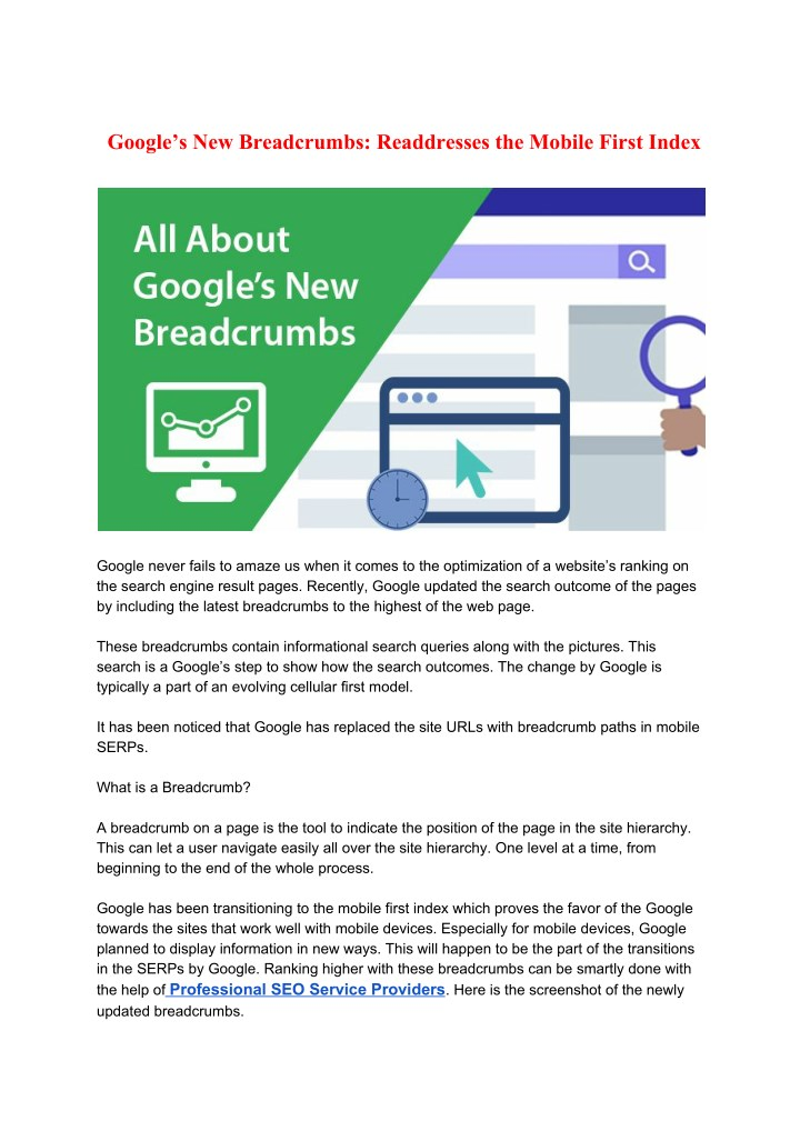 google s new breadcrumbs readdresses the mobile n.