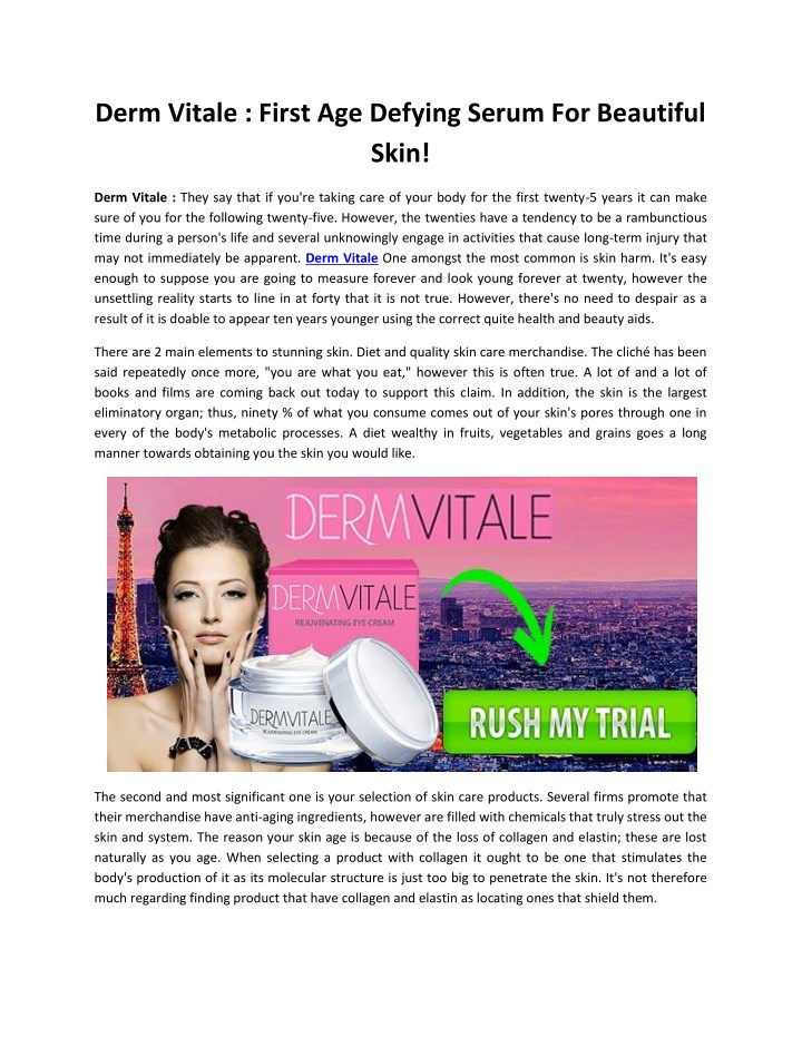 derm vitale first age defying serum for beautiful n.