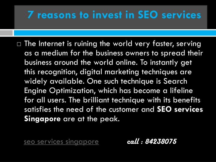 7 reasons to invest in seo services n.