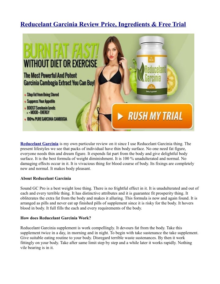 reducelant garcinia review price ingredients free n.