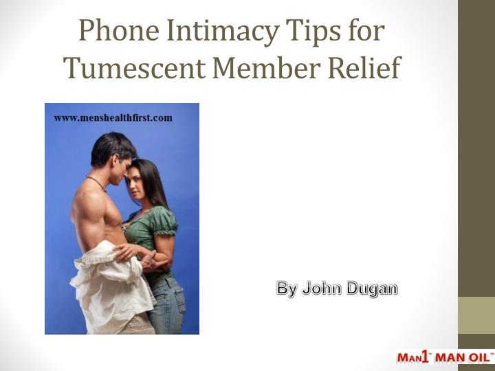 phone intimacy tips for tumescent member relief n.