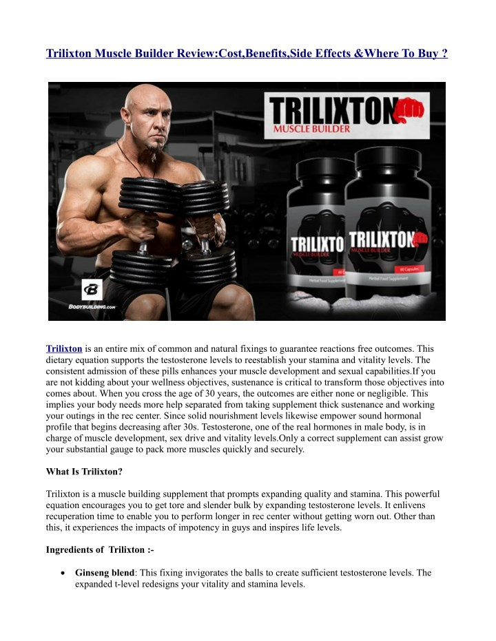 trilixton muscle builder review cost benefits n.
