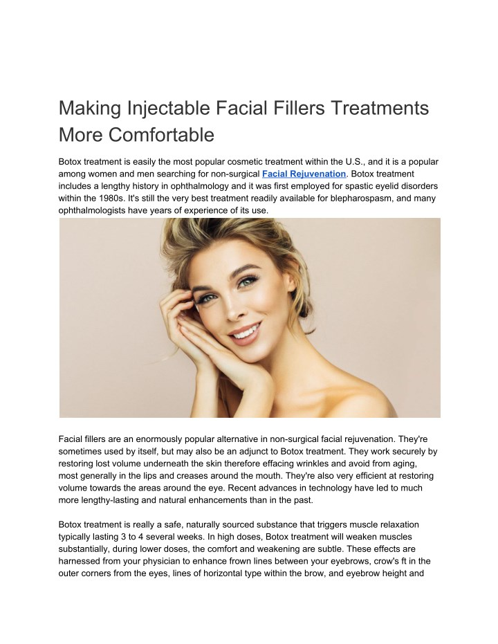 making injectable facial fillers treatments more n.