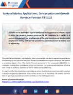 santalol market applications consumption
