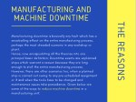manufacturing and machine downtime