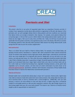 psoriasis and diet