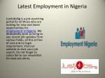 latest employment in nigeria justjobsng