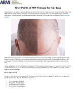 finer points of prp therapy for hair loss